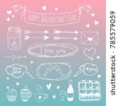 a set of vector elements for st.... | Shutterstock .eps vector #785579059