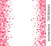vector pink   red valentines... | Shutterstock .eps vector #785583664