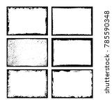 vector grunge frames.distress... | Shutterstock .eps vector #785590348