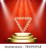 business presentation podium of ...   Shutterstock .eps vector #785593918