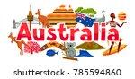 australia banner design.... | Shutterstock .eps vector #785594860