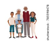 happy african american family... | Shutterstock .eps vector #785598478