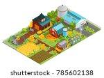 composition of modern farm...   Shutterstock . vector #785602138
