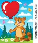 valentine cat theme image 3  ...   Shutterstock .eps vector #785602513