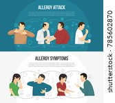 two horizontal colored allergy... | Shutterstock . vector #785602870