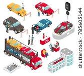 car dealer luxury vehicles sale ... | Shutterstock . vector #785605144