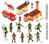 Colored Isometric Fire...