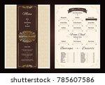 restaurant menu vintage design... | Shutterstock . vector #785607586