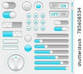 set of white and blue interface ... | Shutterstock .eps vector #785608534