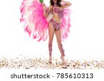 bright woman in carnival... | Shutterstock . vector #785610313
