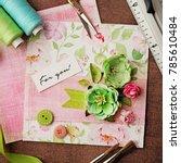 scrapbooking greeting card... | Shutterstock . vector #785610484