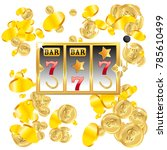 casino. golden slot machine... | Shutterstock .eps vector #785610499