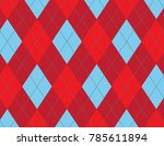 blue and red argyle background | Shutterstock .eps vector #785611894