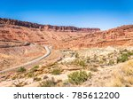 southwest of the usa. rocks of...   Shutterstock . vector #785612200