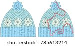 winter cap maze for younger... | Shutterstock .eps vector #785613214