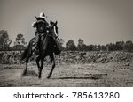 A Vintage Image Of A Cowboy...