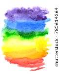 watercolor rainbow gradient  ... | Shutterstock . vector #785614264
