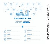 engineer at work concept with... | Shutterstock .eps vector #785614918