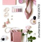 fashion feminine blogger... | Shutterstock . vector #785615470