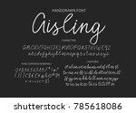 handrawn vector alphabet.... | Shutterstock .eps vector #785618086