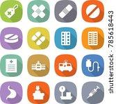 flat vector icon set   medical... | Shutterstock .eps vector #785618443