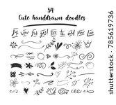 handdrawn vector doodle set.... | Shutterstock .eps vector #785619736