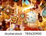 wooden christmas stars  holiday ... | Shutterstock . vector #785620900