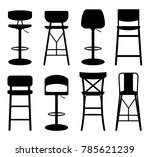 bar stool icon. silhouettes of... | Shutterstock .eps vector #785621239