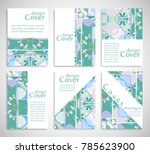 set of a4 cover  abstract... | Shutterstock .eps vector #785623900