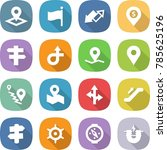 flat vector icon set   pointer... | Shutterstock .eps vector #785625196