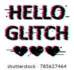 art glitch print vhs effect on...   Shutterstock .eps vector #785627464