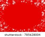 falling white christmas snow on ... | Shutterstock .eps vector #785628004