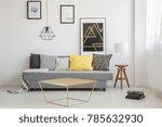 simple living room interior...   Shutterstock . vector #785632930