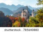 neuschwanstein castleon on... | Shutterstock . vector #785640883