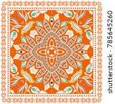 decorative colorful ornament on ... | Shutterstock .eps vector #785645260