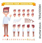 geek character for your scenes. ... | Shutterstock .eps vector #785650084