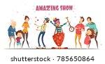 circle clowns amazing public... | Shutterstock . vector #785650864