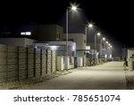 night street modern residential ... | Shutterstock . vector #785651074