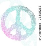floral peace sign | Shutterstock .eps vector #78565288