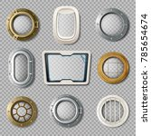realistic set of metal and... | Shutterstock . vector #785654674