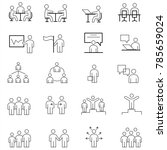 simple set of business people... | Shutterstock .eps vector #785659024