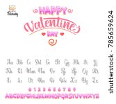 happy valentines day  font.... | Shutterstock .eps vector #785659624