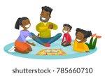 young happy african parents... | Shutterstock .eps vector #785660710