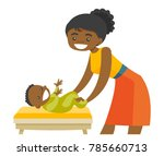 young african american mother... | Shutterstock .eps vector #785660713