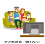 young caucasian white mother... | Shutterstock .eps vector #785660734