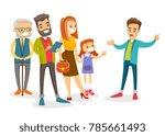 an organized group of caucasian ... | Shutterstock .eps vector #785661493
