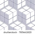 geometric cubes abstract... | Shutterstock .eps vector #785661820
