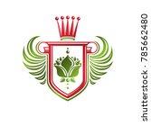 vintage heraldic insignia made... | Shutterstock .eps vector #785662480