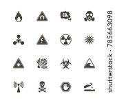 danger icons. perfect black... | Shutterstock .eps vector #785663098