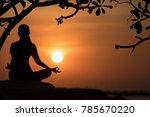 silhouette healthy woman...   Shutterstock . vector #785670220